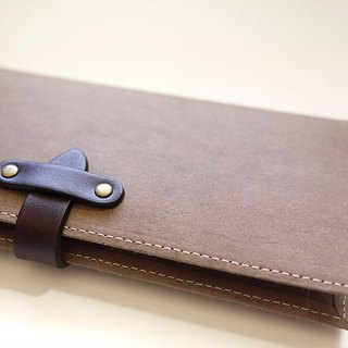 Long washed kraft paper clip / wallet / wallet / purse. chocolate