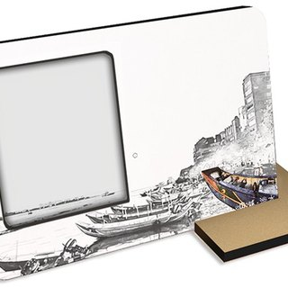 Taiwan Series ~ nostalgic freshwater ~ 30 seconds sound and light recording card postcard photo frame can be recorded photos tourist attractions souvenirs hand gift blank space can also be hand-painted ......
