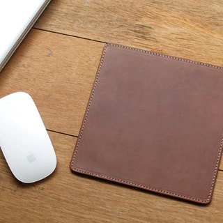 Leather Mouse Pad ( Custom Name ) - Caramel Coffee