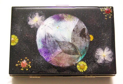 Yahua Pressed Flowers Clutch