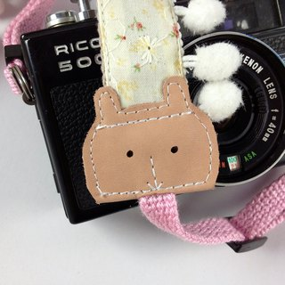Hand-made monocular Class SLR camera strap decompression Camera back rope --- rabbit fur ball subsection