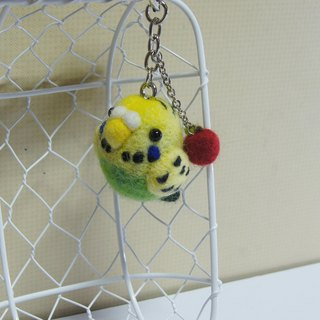 [Sheep wool felt music and more X] budgies phone strap headphone plug