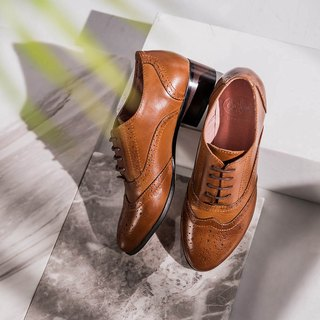 e cho Jazz actress England carved lace gentleman Oxford shoes Ec03 vintage brown (a small size one)
