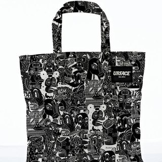 [URFACE] 2nd Artist Series / P7 design limited edition Shopping Bag / black lines