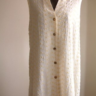 Exquisite Series - jacquard vest (yellow rice white Ronghua)