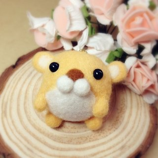 [Hairy] cream wool felt handmade cute golden balls Charm Mouse Rat Hamster Farm chipmunk Taro headphone plug dust plug mobile phone strap keychain birthday gift