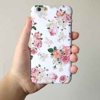 white floral rose 3D Full Wrap Phone Case, available for  iPhone 7, iPhone 7 Plus, iPhone 6s, iPhone 6s Plus, iPhone 5/5s, iPhone 5c, iPhone 4/4s, Samsung Galaxy S7, S7 Edge, S6 Edge Plus, S6, S6 Edge, S5 S4 S3  Samsung Galaxy Note 5, Note 4, Note 3,  Note