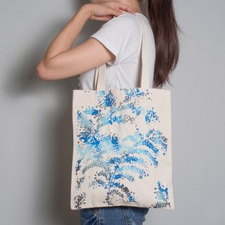 Hand-painted handprints Peibu bag [month] one-sided tree pattern hand / shoulder
