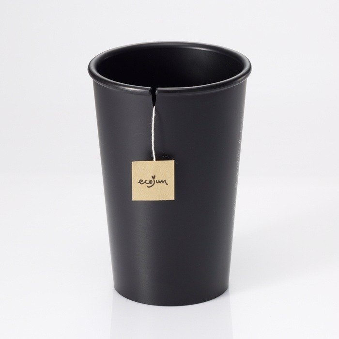 Ecojun Original green original Green series - environmentally friendly materials accompanying Cup - Black