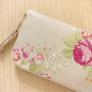 Tangerine flower imagination. Waterproof long clip / wallet / purse / purse