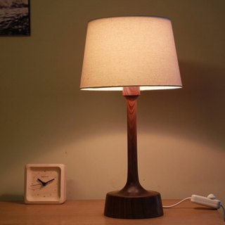 Beladesign. BROTHER black walnut wood table lamp