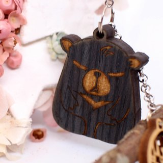 MuMu Sweety black bear / key ring / mobile phone strap / hardcover