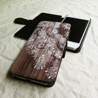 Wooden Mehendhi - Designer,iPhone Wallet,Pattern iPhone wallet