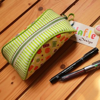 Sweet candy flying manually zipper bag / Pencil / Cosmetic / packages and other debris