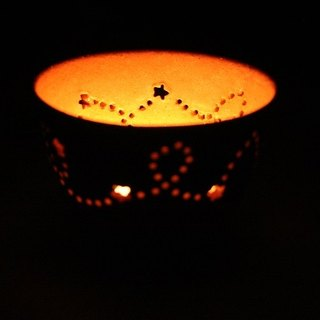 Starry sky candle holder B