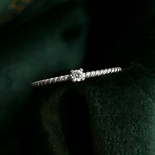 【Gold Charlene sterling silver zircon] kiss ring