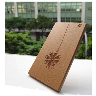 IC card holder wood - beech laser engraving (angle pill)