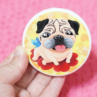 Pug Pocket Mirror-I can fly!