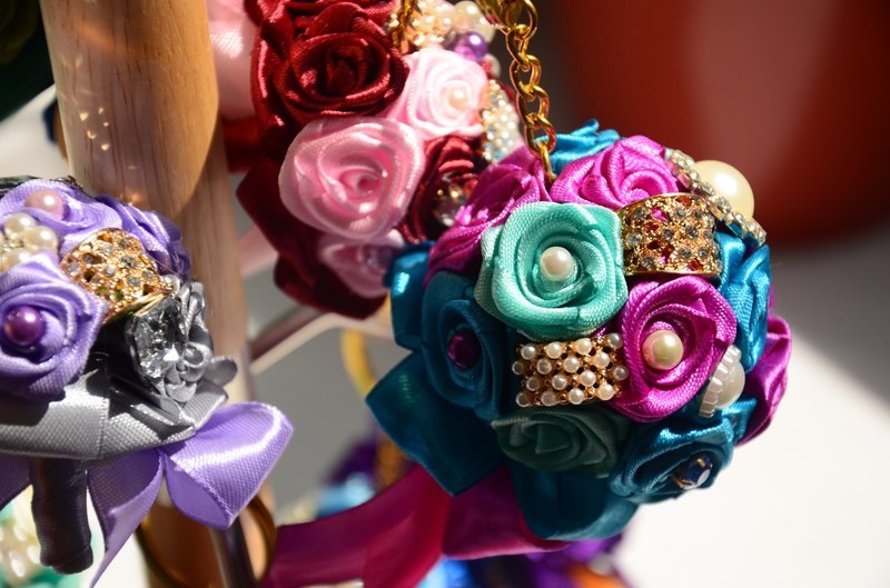 CAmelliaT camellia jewelry bouquet keychain cat * [Mrs. Fenghua money] * was * sisters small wedding ceremony