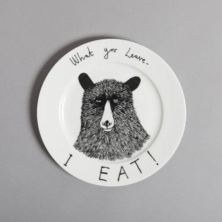 What you leave, I eat bone china plate | Jimbobart