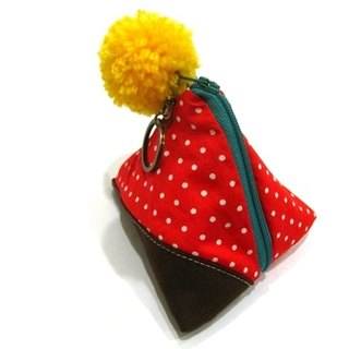 Tetra pouch(red dot cotton)