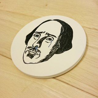 Mr. Shakespeare cried ceramic absorbent coaster