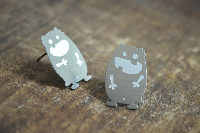 【Peej】'Happy Every Day' Stainless Steel Earrings