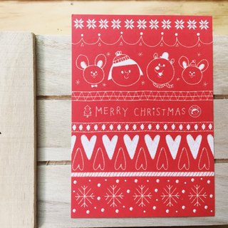 FiFi Christmas postcard red snowflake Christmas ★