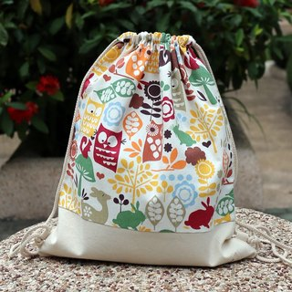 Silverbreeze ~ Drawstring backpack ~ Lovely owls