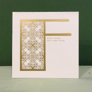 Bronzing letter card envelope sticker group -F