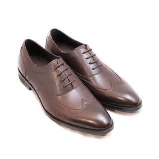 Hand-colored calf leather and wood with a ribbed engraved oxford - Brown - Free Shipping - D1A28-89