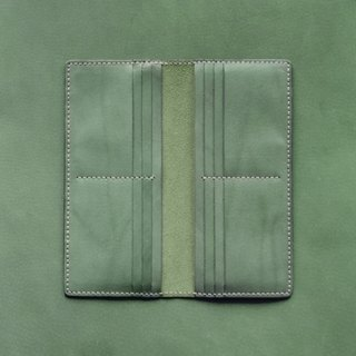 Gentleman 12-Card Long Wallet。Leather Stitching Pack。BSP010