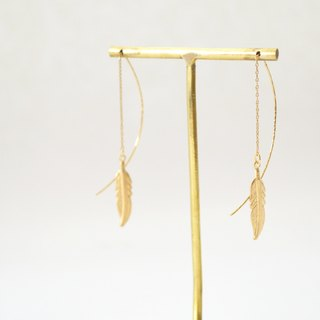 earrings Feather American Pierce