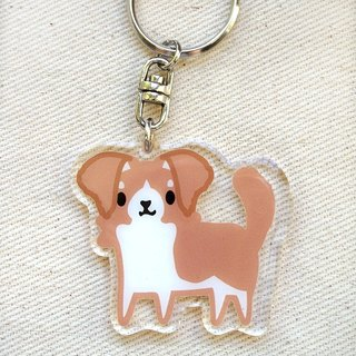 "PuppyLove early heart illustration [dog] acrylic pendant key ring ""Meeks"""