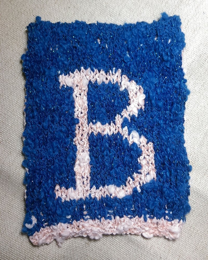 Lan wool 26 letter corners flag - blue and pink word B
