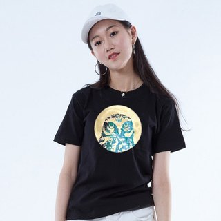 "Icarus ICARUS original fashion design short TEE ANIMAL animal series - ""OWL AOYUE"""
