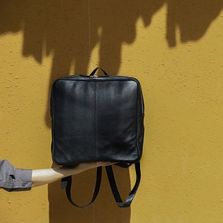 Geometric | Playful | Minimal | Square | Unisex | Backpack | in Black