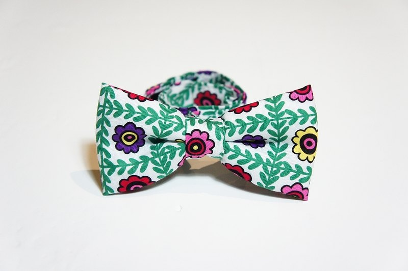 Stone as chic spring flowers Yang tweeted tie bow Tie
