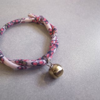 Japanese dog collar & cat collar【Nordic Cloth Adjustable】Shell Pink_S size