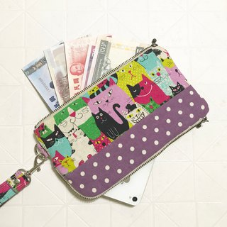 Cat mobile phone bag and wallet 2 storage bag mobile phone bag -- (custom) 08035