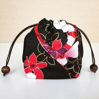 Purse String Bags - Black (Tung Blossom, Lunar New Year)