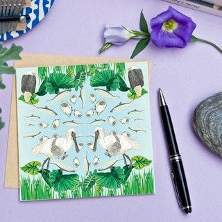 <Nutrients islands> Greeting Cards / black-faced spoonbill (Single)