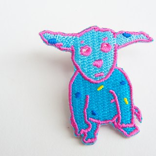 Baby blue puppy embroidery brooch / patch ☆