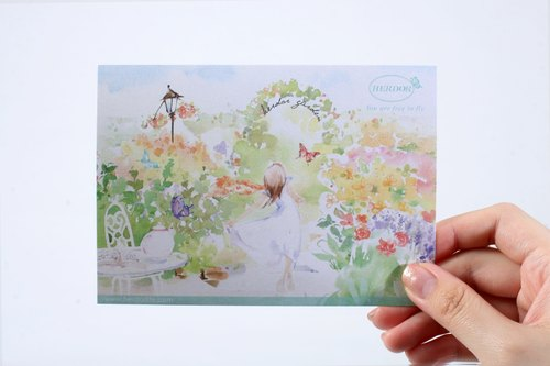 [HERDOR] Card / Kuka / hand-painted postcard - Garden village, a romantic afternoon tea series Postcards / Kuka / cards (four)