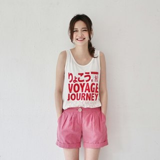 SUMI △ ▽ Long Trip language travel vest _3SF033_ Red / White