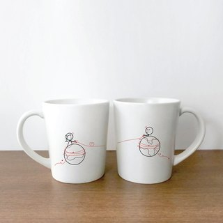 MARS AND VENUS Couple Coffee Mugs by HUMAN TOUCH Set/2