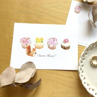 * Zoe's forest * squirrels eat cupcakes postcard (cs06)