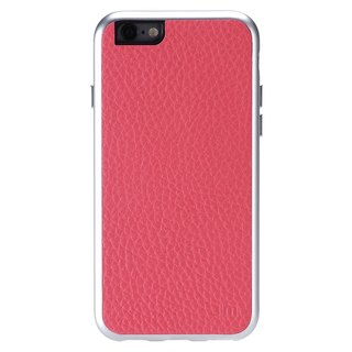 Just Mobile AluFrame Leather iPhone 6/6s精緻鋁框真皮手機殼-桃紅色 AF-168PK