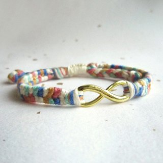 Little Jumping Bean Infinite Lucky Rope Braided Bracelet (optional color)