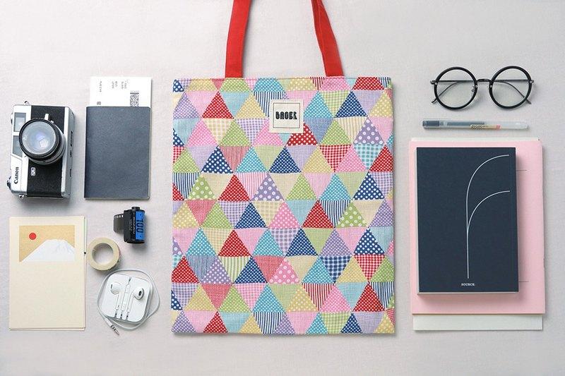 [日本東京限量]彩色三角 托特包